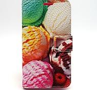 Eis Litschi Getreide pu Ledertasche für Samsung Galaxy Core-Plus G350 / G360 Kern prime / Kern 2 g355h