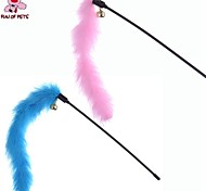 FUN OF PETS® Lovely Turkey Feather Shaped Playing Stick Teasers for Pet Dogs Cats (2PCS/Packed)