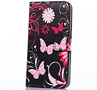 Pink Butterfly PU Leather Wallet Flip with Card Slot And Stand Case for Samsung Galxay Trend 2 Lite G318/Ace 4 G313H