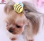 Cat / Dog Hair Accessories / Hair Bow / Clothes/Clothing Yellow Spring/Fall Wedding / Cosplay