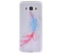 motif de plume fine matériau TPU étui transparent de téléphone pour Samsung Galaxy a8 / A3 / A5 / A7