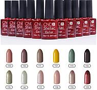 1шт блестки УФ геля цвета лака для ногтей no.109-120 Выдержать- (10 мл, разные цвета)