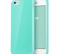 ESR® yippee serie color perfecto ajuste de ultra ligero delgada suave parachoques del tpu para el iphone 6 verde menta