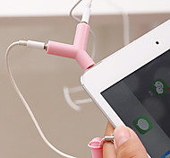 3.5mm Earphones Sharing Type Plug(Random Color)