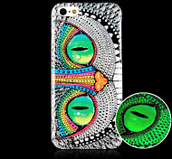The Owl Pattern Luminous Phone Case Back Cover Case for iPhone5C