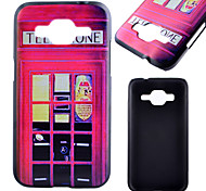 Red Pavilion Pattern Black PC Material Phone Case for Samsung Galaxy G360/J1 /G388F/G850G/G357