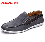 Aokang Men's Shoes Outdoor/Office & Career/Casual Suede Loafers Blue/Gray