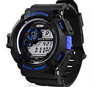 Men's LCD Digital Sport Watch 5 Colors Backlight Stopwatch