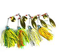 """4 pcs Spinnerbaits / leurres de pêche Leurre Buzzbait & Spinnerbait Others 17.4g g/5/8 Once mm/2-3/4"""" pouce,Métal / Plastique dur /"""