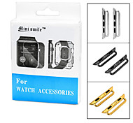 Mini Smile™ Replacement Stainless Steel Watchband Band Attachment Connector Adapter for APPLE WATCH (2pcs)
