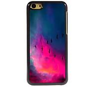 le cas mouche oiseau design en aluminium de haute qualité pour iPhone 5c