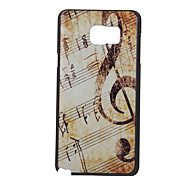 Note Pattern PC Material Phone Case for Samsung Galaxy Note 5