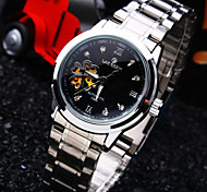 Women's Round Diamond Dial Mineral Glass Mirror Stainless Steel Band Fashion Life Waterproof Mechanical Watch Cool Watches Unique Watches