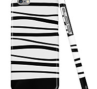 ESR® Beat Series Scratch-Resistant Perfect Fit Hard Back Case with Black and White Stripes Pattern for iPhone 6
