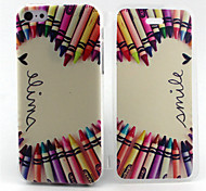 Color pencil Pattern TPU Soft Full Body Cover Case for iPhone 5C