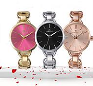 Mulher relógios 2015 marca de relógios de quartzo de aço de luxo
