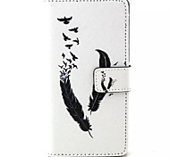 Feather Pattern PU Leather Phone Case For Sony M4