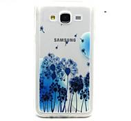 blauen Löwenzahn Muster TPU Acryl weiche Tasche für Samsung Galaxy J1 / galaxy j5 / galaxy j7