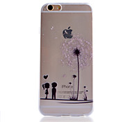 motif de pissenlit mince étui transparent soft phone pour iphone 6s 6 plus