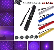 SHARP EAGLE ZQ-LV-Zo 405nm 5mw Purple Laser Pointer (Shell Color Multicolor) + Five Pattern Laser Head + Laser Sword