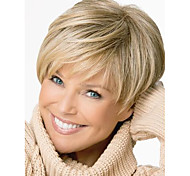 Short Blonde Mix Straight Women Full Wig