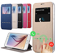Hot Popular Contracted Fashion View Window Flip Leather Case for Samsung Galaxy S5 I9600 Smart Sliding Answer