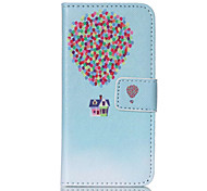 Balloon House  PU Leather Full Body Case with Screen Protector And Stand for iPod Touch 5