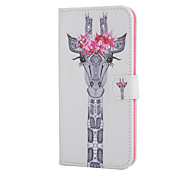 Giraffe Pattern With Diamond Phone Case For iPhone 6