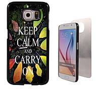 Keep Calm and Carry On Design Aluminum High Quality Case for Samsung Galaxy S6 SM-G920F