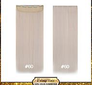alta temperatura de resistencia de 24 pulgadas de color 60 # recta larga peluca de extensión 5 clip de 16 colores disponibles