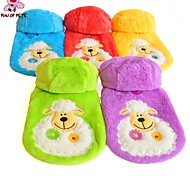 Cat / Dog Coat / Hoodie / Clothes/Clothing Red / Green / Blue / Yellow / Purple Winter Cartoon Wedding / Cosplay