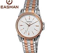 homens easman subiu homens relógio marca de ouro relógios de quartzo estilo de aço roma casuais para homens relógios de pulso