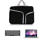 2016 Cheapest Canvas Double Chain Notebook Bag with Keyboard Cover and screen flim for  MacBook Retina 13.3 inch