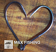 100Pcs High Carbon Steel Fishing Jig Hooks 2/0 Size Fishing Tackle Fish Hook MF0588