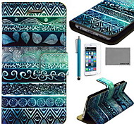 COCO FUN® Circle Tribal Pattern PU Leather Case with Screen Protector and USB Cable and Stylus for iPhone 6