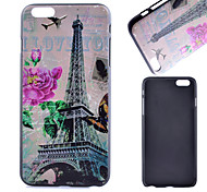 Tower and Flower Pattern PC Material Phone Case for iPhone 6