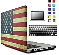 3 in 1 National Flag Soft-Touch Plastic Hard Case Cover & Keyboard Cover & screen protector for Macbook Pro 12''