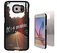 Let's Go Somewhere Design Aluminum High Quality Case for Samsung Galaxy S6 Edge G925F