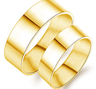 Stainless Steel Plating 24 K Gold Couple Ring
