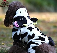 FUN OF PETS® Cute Cow Costume With Hoodie For Pet Dogs(Assorted Sizes)
