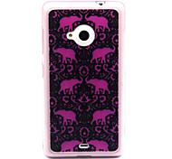 TPU Feel Comfortable Totem Elephant Case for Nokia N435/N535/N640