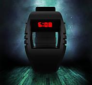 plástico de los hombres llevó reloj de pulsera deportivo digitales