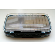 M&X Slotted Foam Portable Waterproof Side Medium Clear Tackle Box Fly Fishing Box Lure Box(18*10*4cm) MF0011
