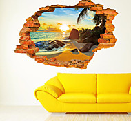 ботанический Мультипликация Романтика Натюрморт Зеркала Мода Праздник Транспорт 3D Наклейки 3D наклейки Декоративные наклейки на стены,