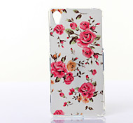 Peony Flowers Pattern TPU Soft Case for Multiple Sony Xperia M2/Z2A