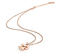 Bow Love Stainless Steel Pendant Necklace