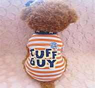 Hunde - Sommer - Baumwolle - Zebra - Orange - T-shirt - S / M