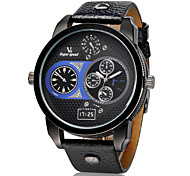 V6 Men's Fashion Army Design Leather Strap Military Casual Watch