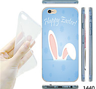 MAYCARI®Rabbit Ears Pattern TPU Soft Transparent Back Case for iPhone 6