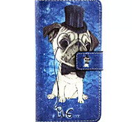 Puppy Pattern PU Leather Phone Case For Huawei P8
